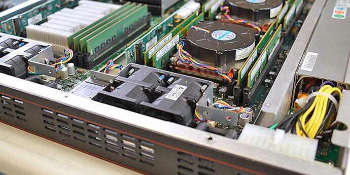 An inside look at a Trenton Systems blade server