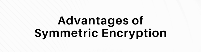 "This is a graphic that reads ""advantages of symmetric encryption."""