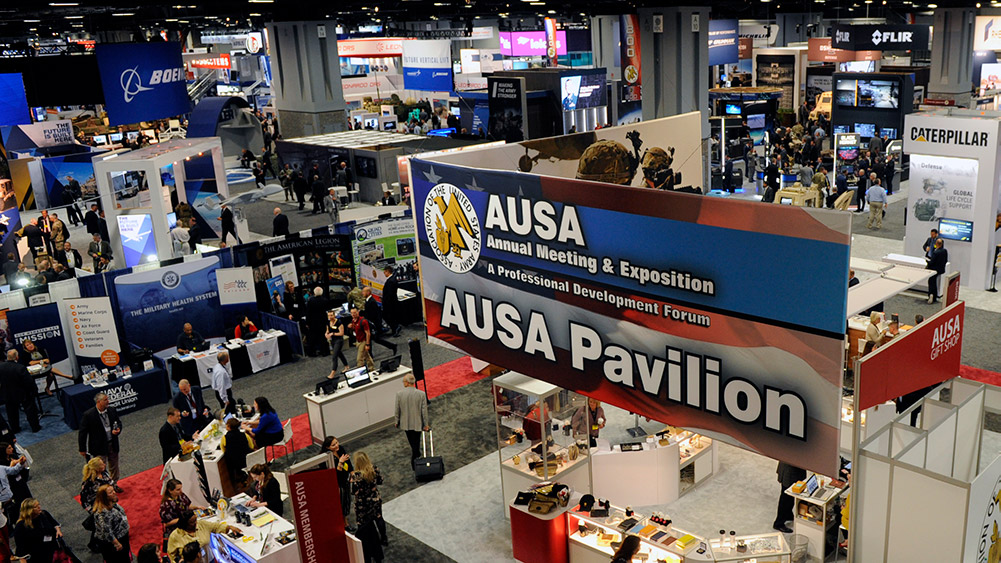 A scene from a previous AUSA exposition. Photo credit: AUSA