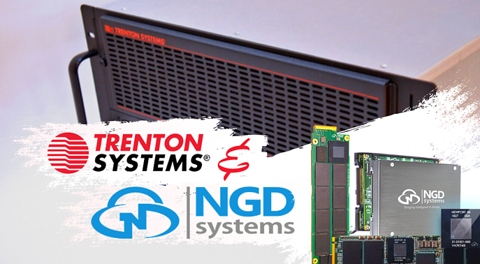 Trenton Systems and NGD Systems have joined forces to bring customers rugged computers with high-capacity computational storage drives