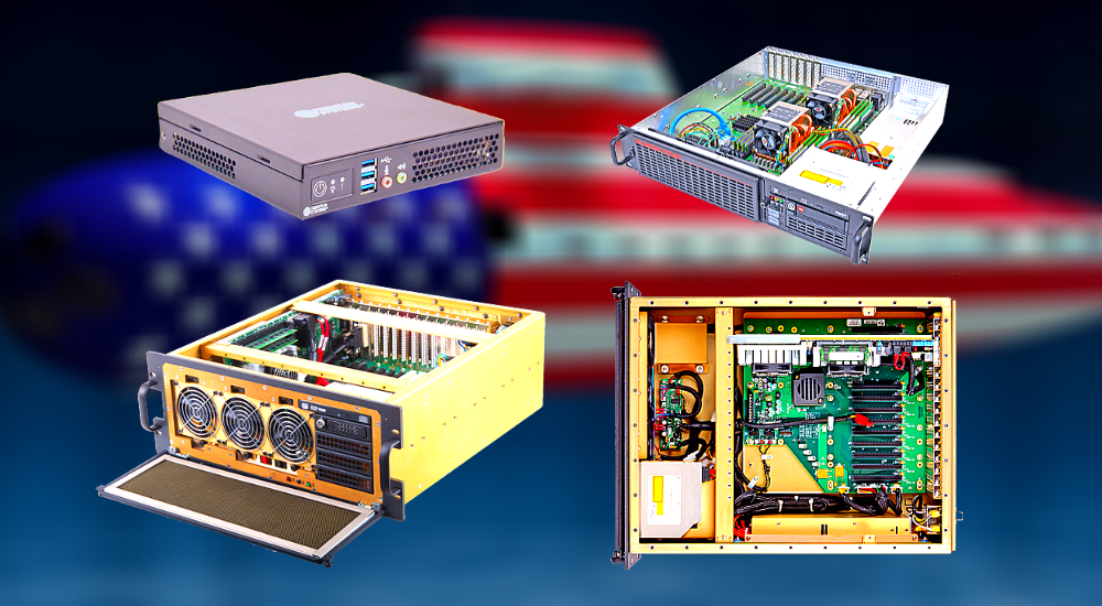 A collection of Trenton Systems' rugged servers and workstations, perfect for Navy submarine warfare systems