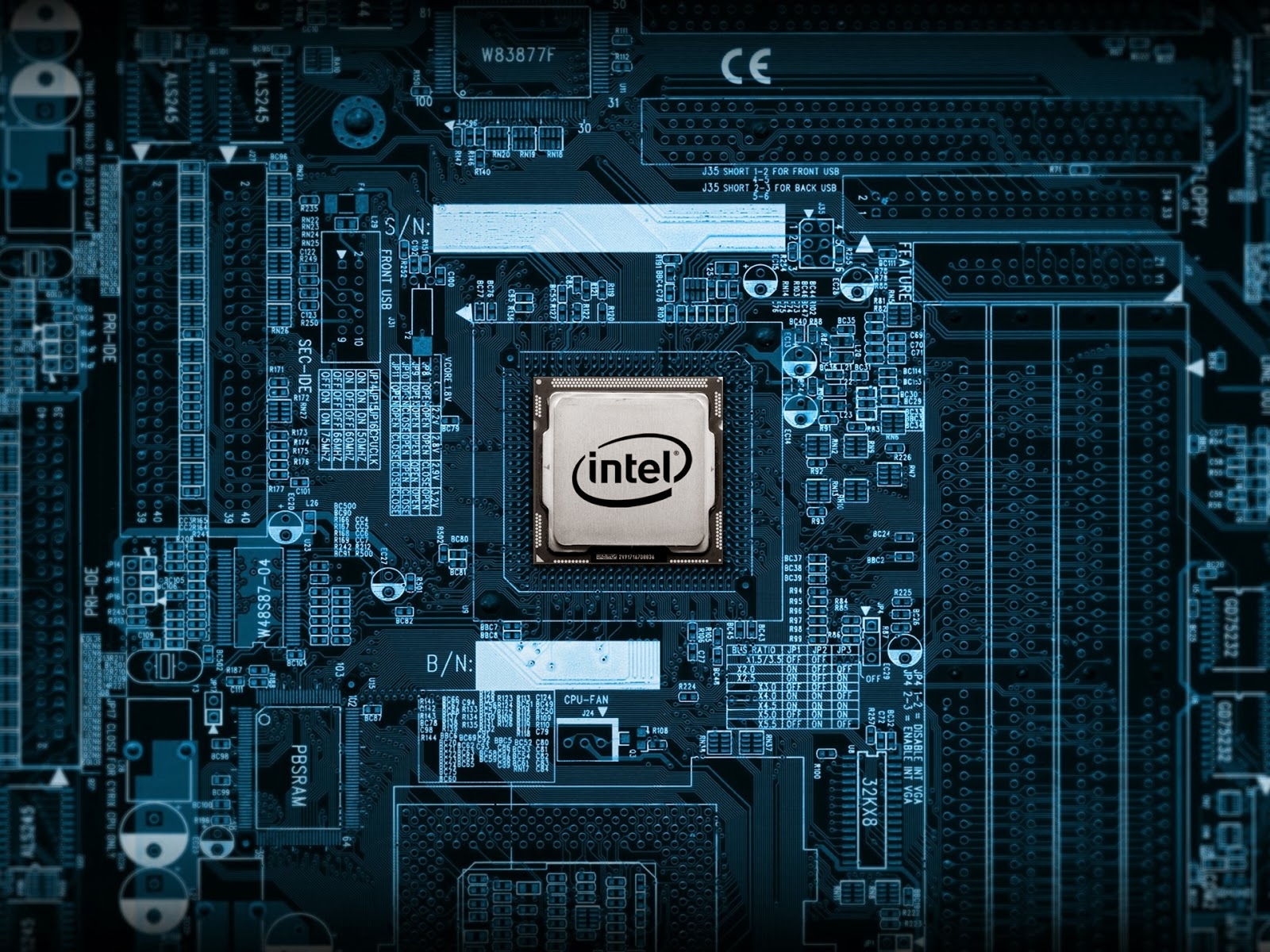 A chip manufactured by Intel