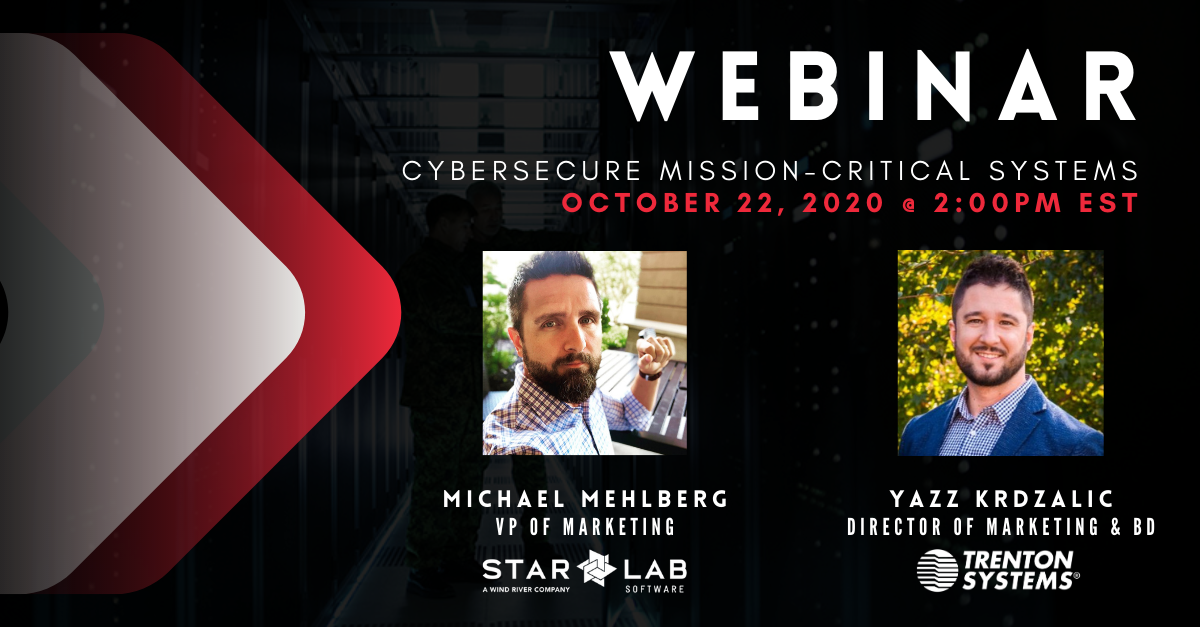 Cybersecure Mission-Critical Systems webinar advertisement