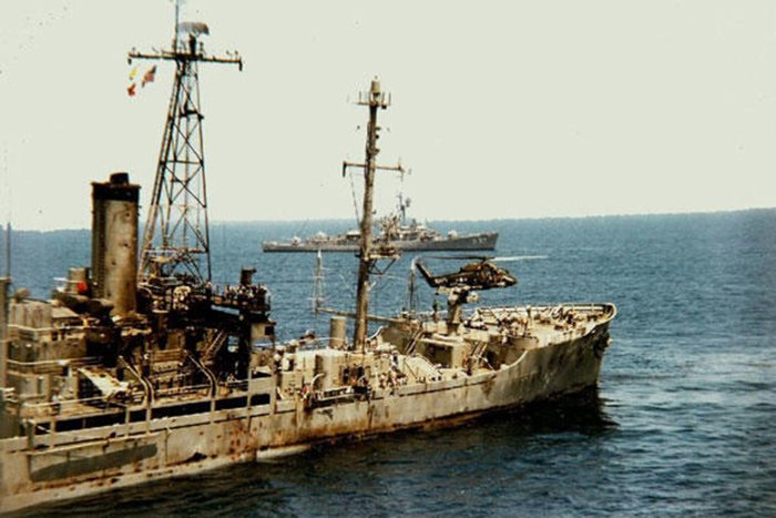 The attack aftermath of the USS Liberty