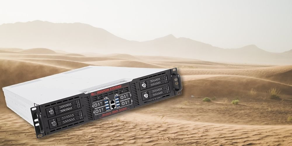 Trenton Systems 2U Modular Blade Server in desert