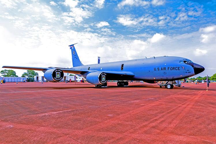 U.S. Air Force aircraft at an American air force base