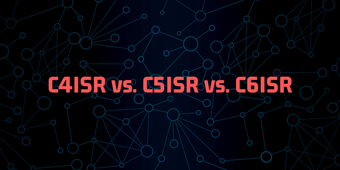 A graphic: C4ISR vs. C5ISR vs. C6ISR