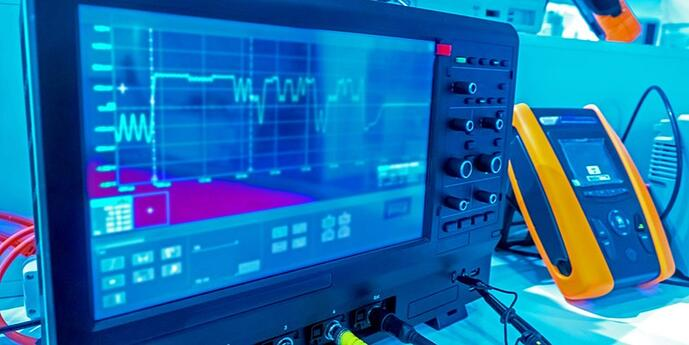 A photo of electronic test equipment