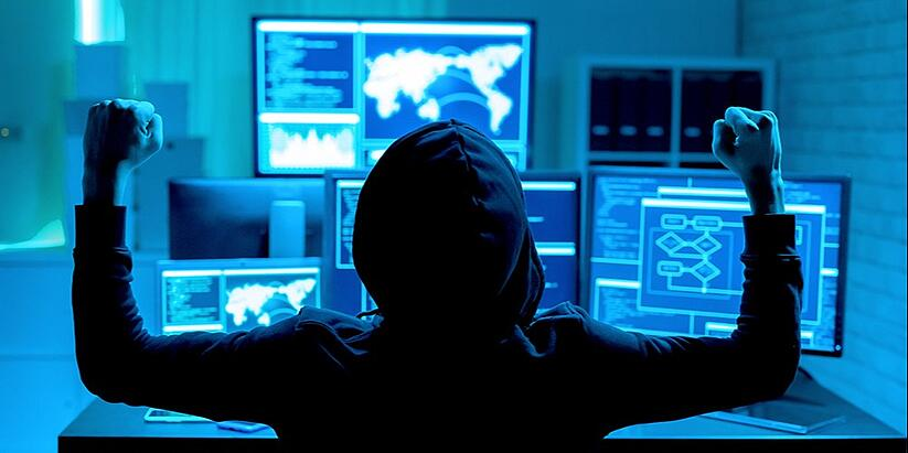 A hacker expresses satisfaction with an attack he or she just executed