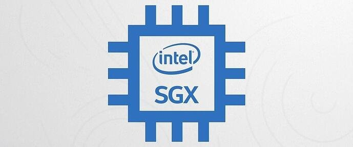 This is a graphic showcasing Intel's Software Guard Extensions (SGX) logo.