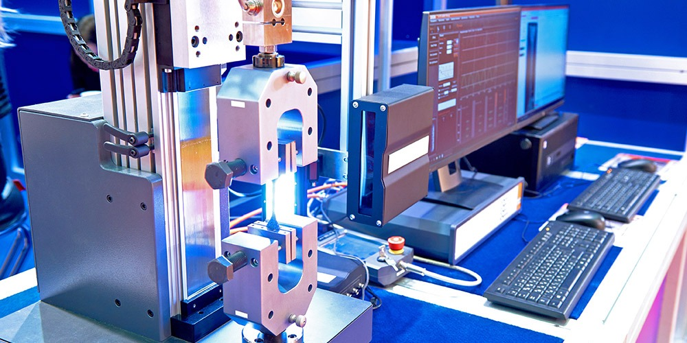 Automated test equipment for metals testing