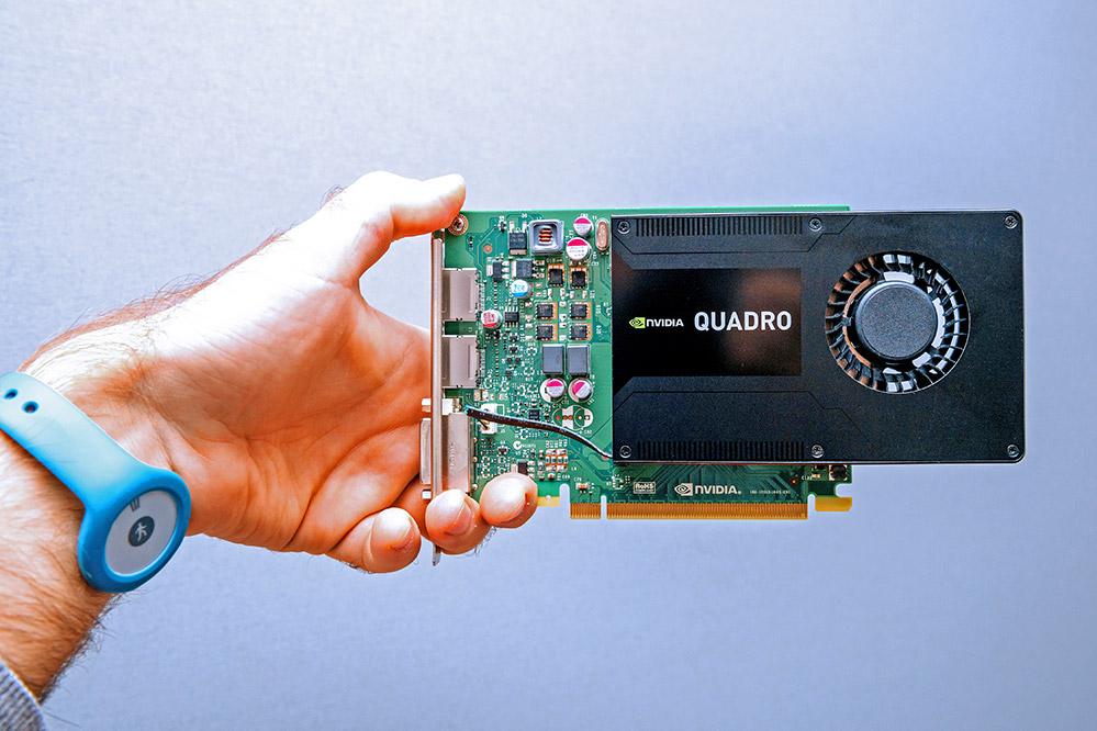An NVIDIA Quadro GPU