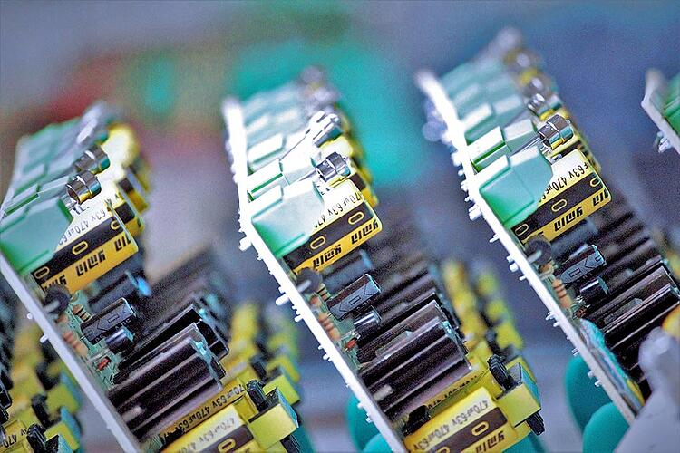 A collection of printed circuit boards