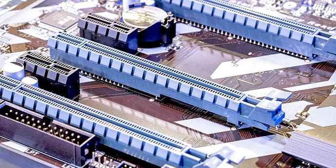 This is a photo of PCIe slots on a motherboard.