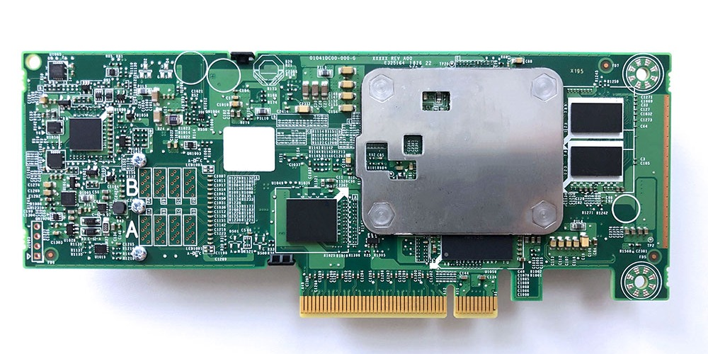 This is a photo of a RAID host bus adapter (HBA), or RAID card.