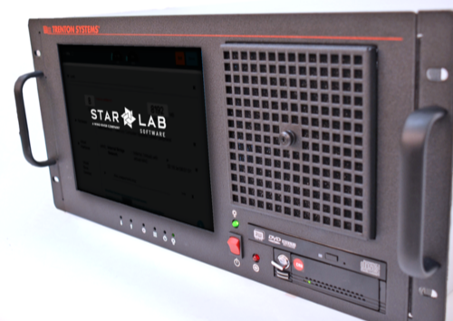 A Trenton system with a front-facing screen promoting Star Lab software