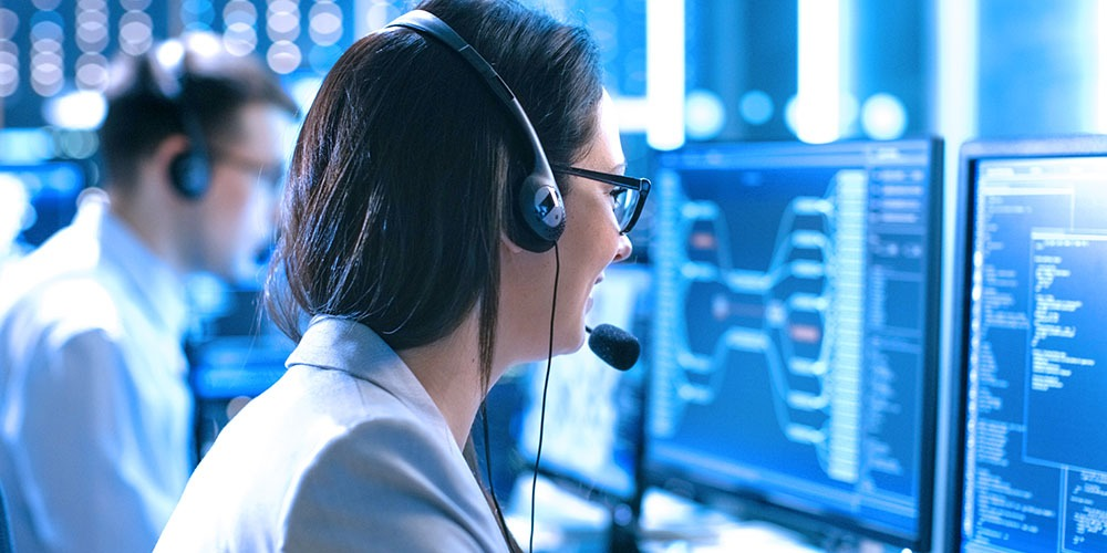 Technical support agents helping customers solve their problems