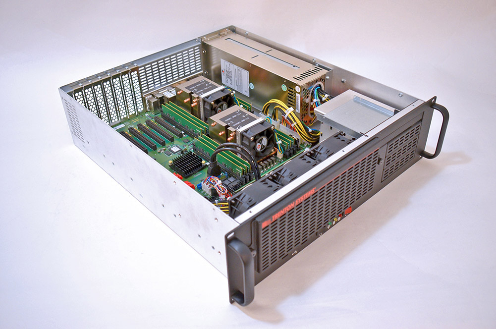 This is a photo of a Trenton Systems 3U industrial server.