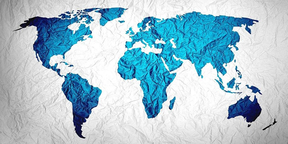 This is a photo of a world map.