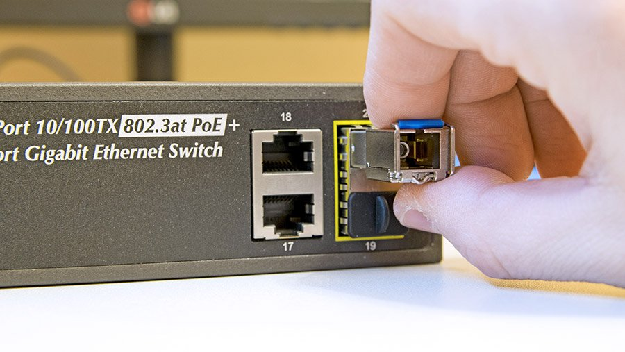 What is an SFP port?